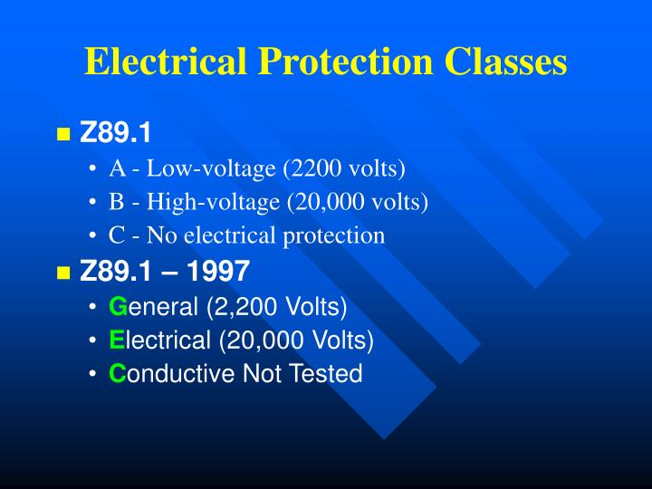 Electrical Protection Classes