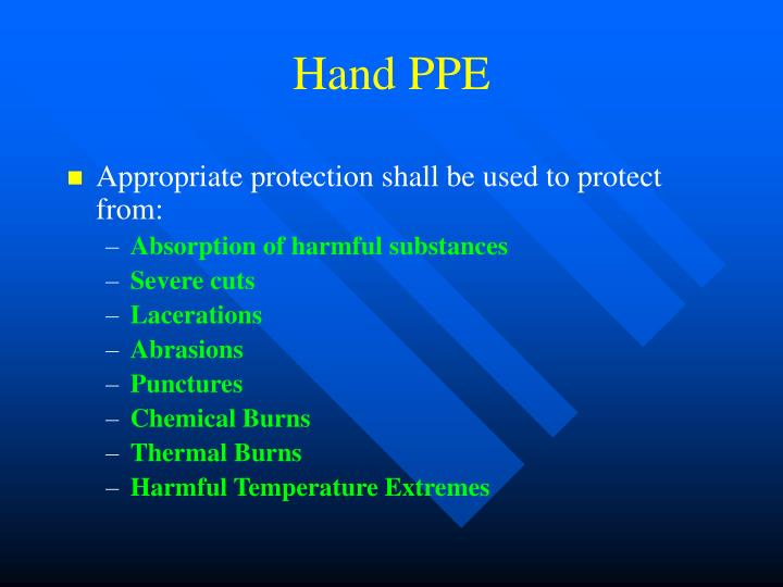 Hand PPE