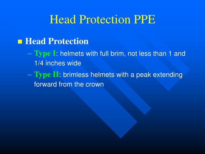 Head Protection PPE