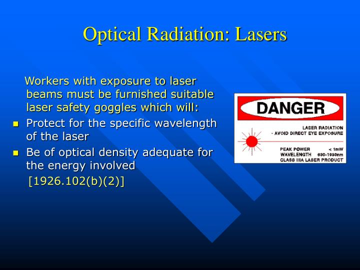 Optical Radiation: Lasers