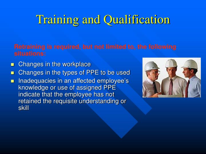 Training and Qualification