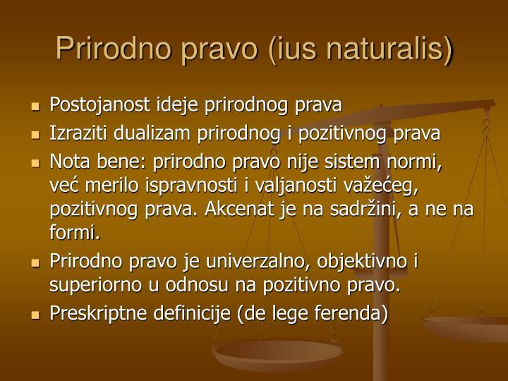 Prirodno pravo (ius naturalis)