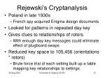 rejewski s cryptanalysis