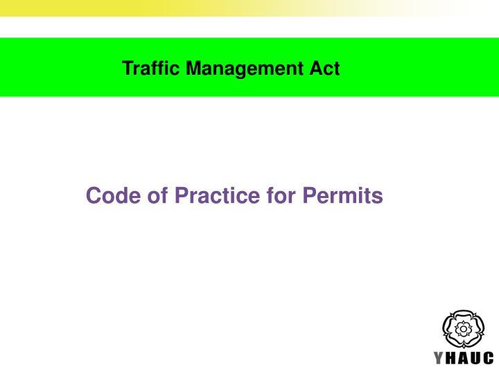 Draft Code of Practice