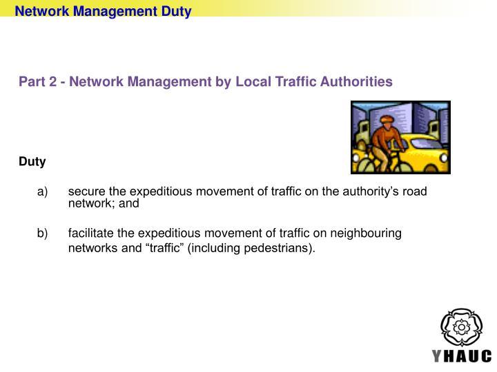 Network Management Duty