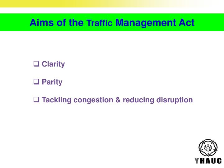Aims of the