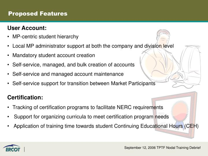 Proposed Features