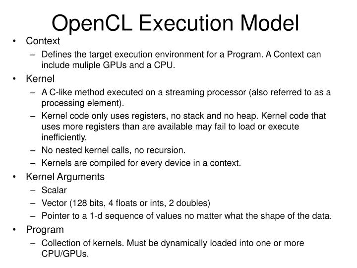 OpenCL Execution Model