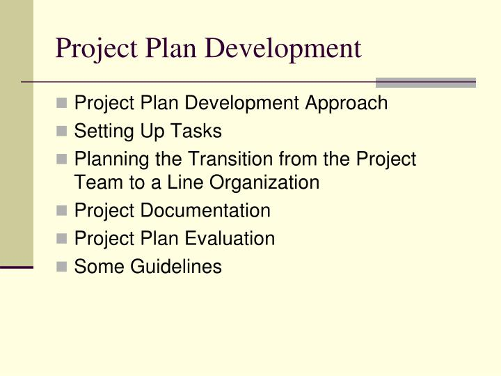 Project plan development1