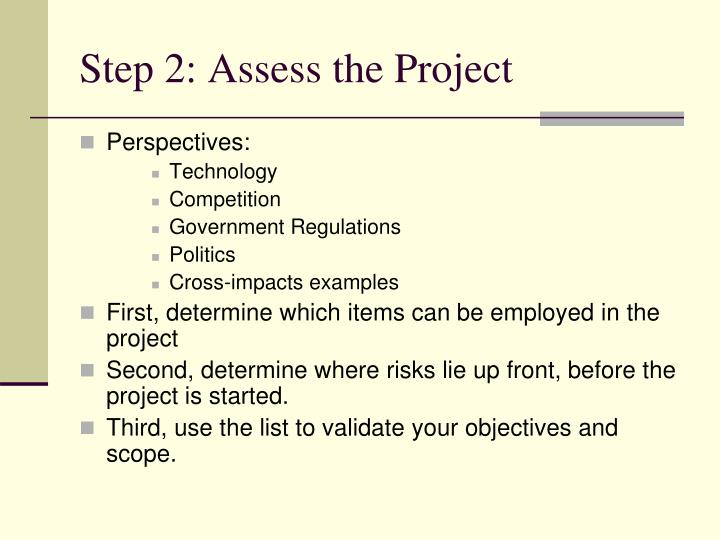 Step 2: Assess the Project