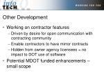 other development