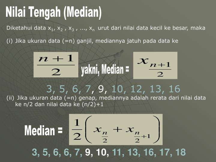 Nilai Tengah (Median)