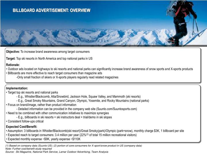 BILLBOARD ADVERTISEMENT: OVERVIEW
