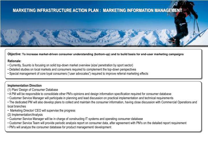 MARKETING INFRASTRUCTURE ACTION PLAN :  MARKETING INFORMATION MANAGEMENT