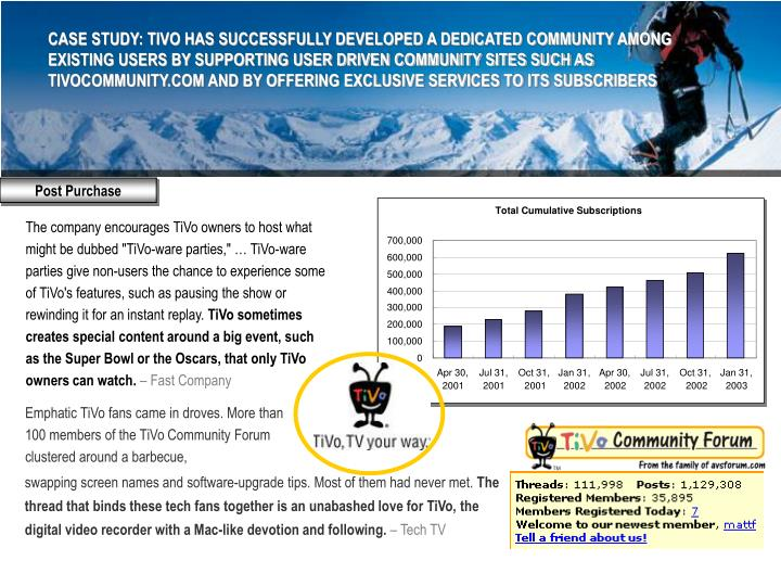 Emphatic TiVo fans came in droves. More than 100 members of the TiVo Community Forum clustered around a barbecue,