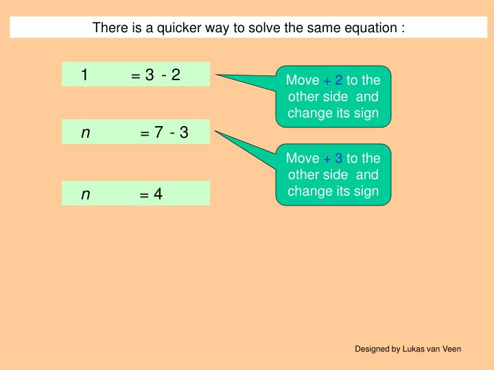 There is a quicker way to solve the same equation :