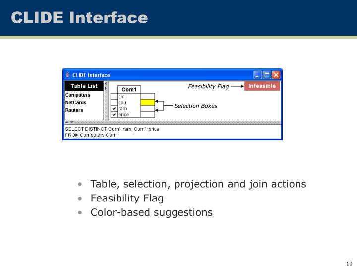 CLIDE Interface