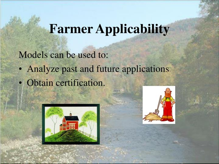 Farmer Applicability