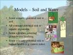 models soil and water