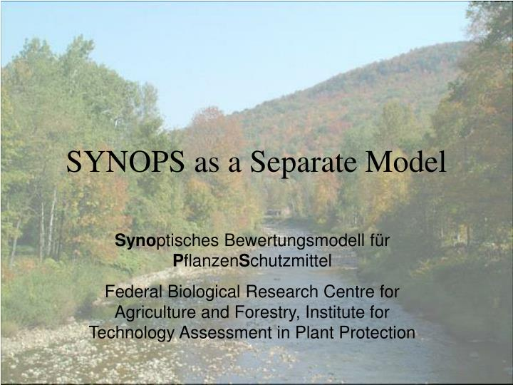 SYNOPS as a Separate Model