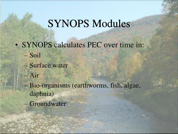 SYNOPS Modules