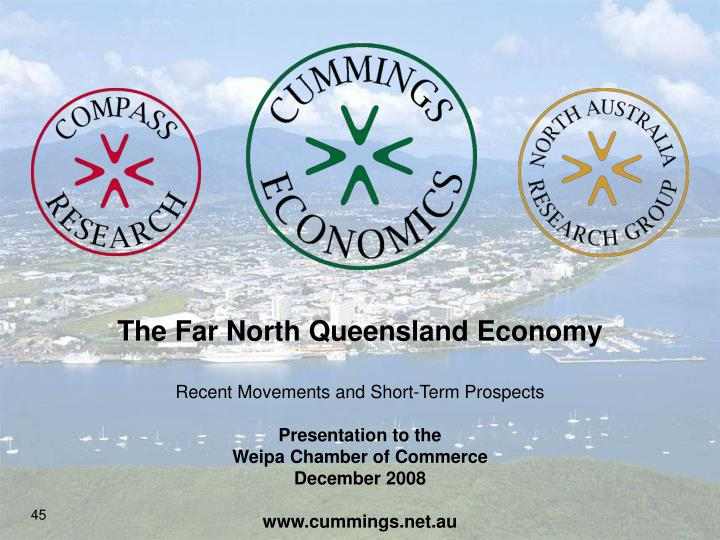 The Far North Queensland Economy