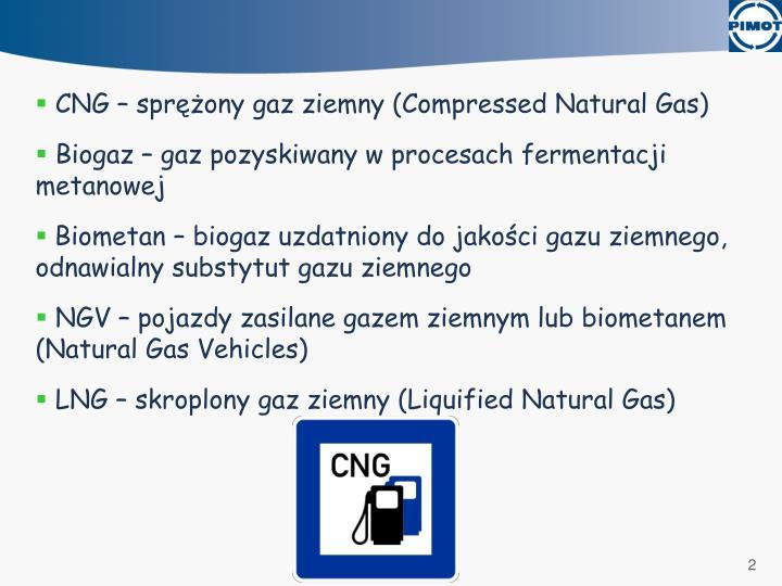 CNG – sprężony gaz ziemny (Compressed Natural Gas)