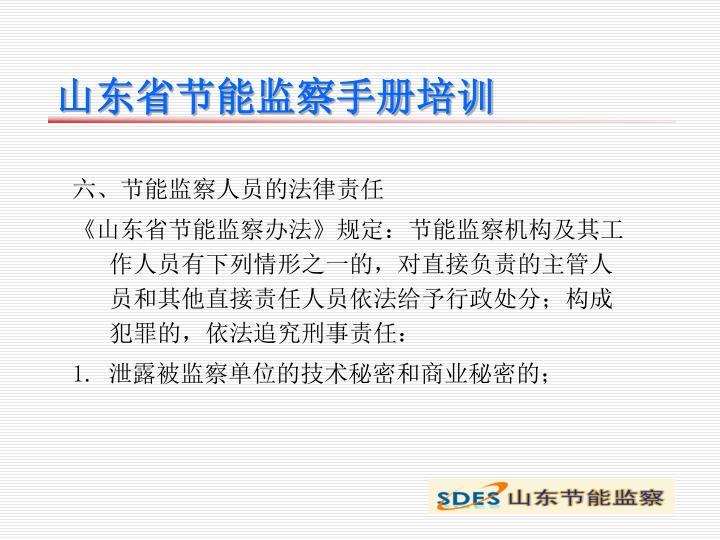 山东省节能监察手册培训