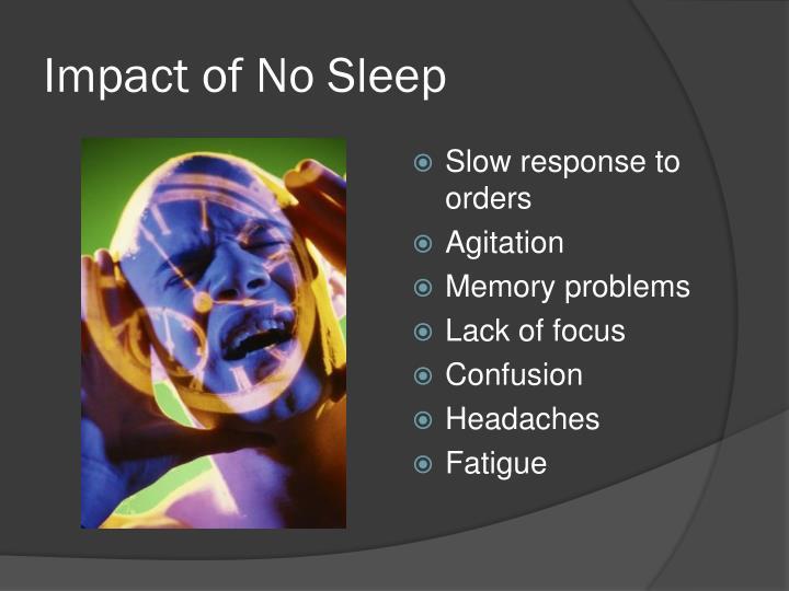 Impact of No Sleep