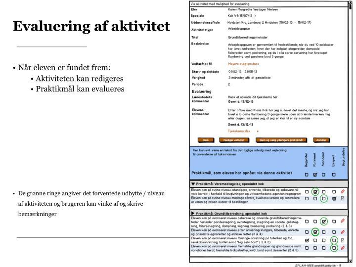 Evaluering af aktivitet