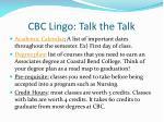 cbc lingo t alk the talk