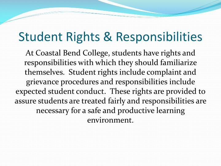 Student Rights & Responsibilities