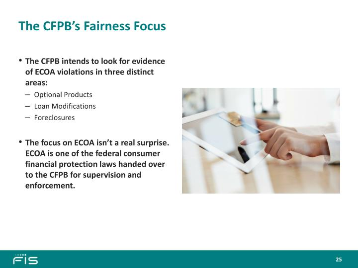 The CFPB's Fairness Focus