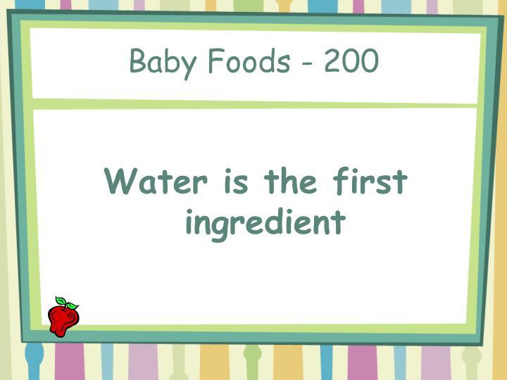 Baby Foods - 200