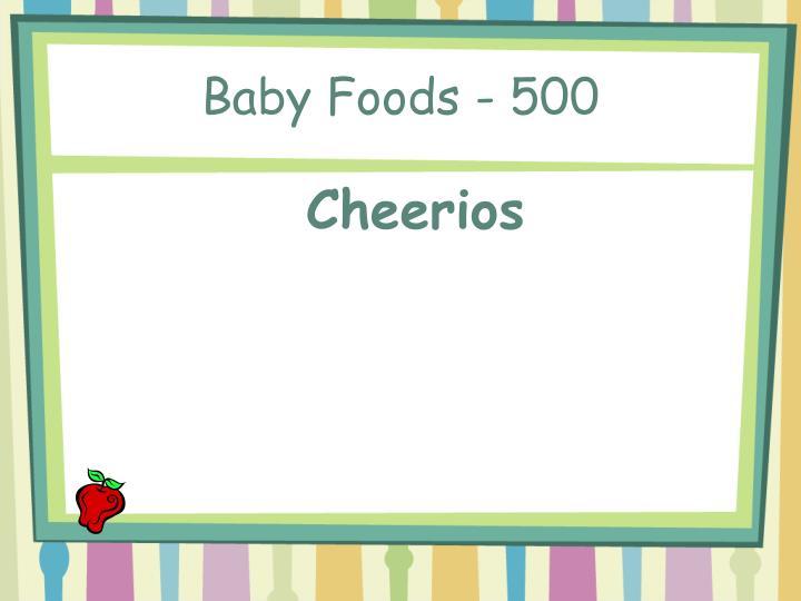 Baby Foods - 500