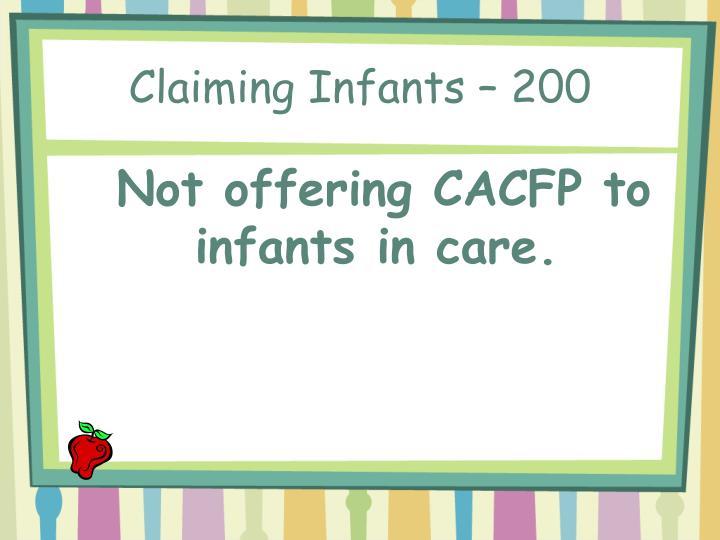 Claiming Infants – 200