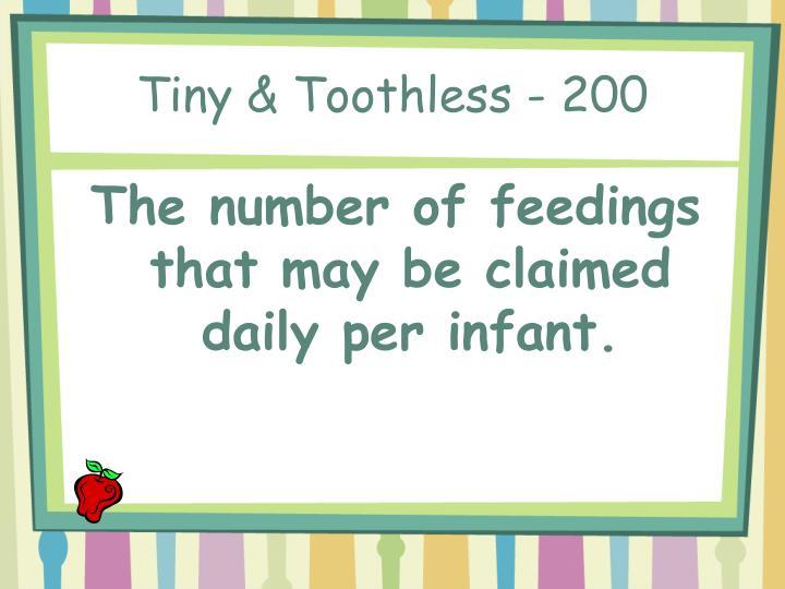 Tiny & Toothless - 200