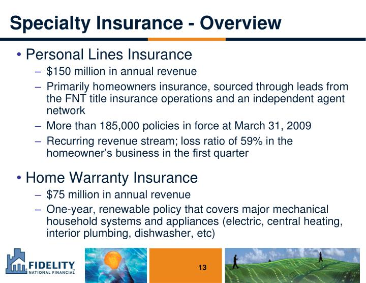 Specialty Insurance - Overview