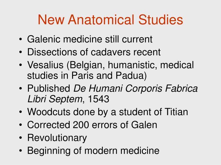 New Anatomical Studies