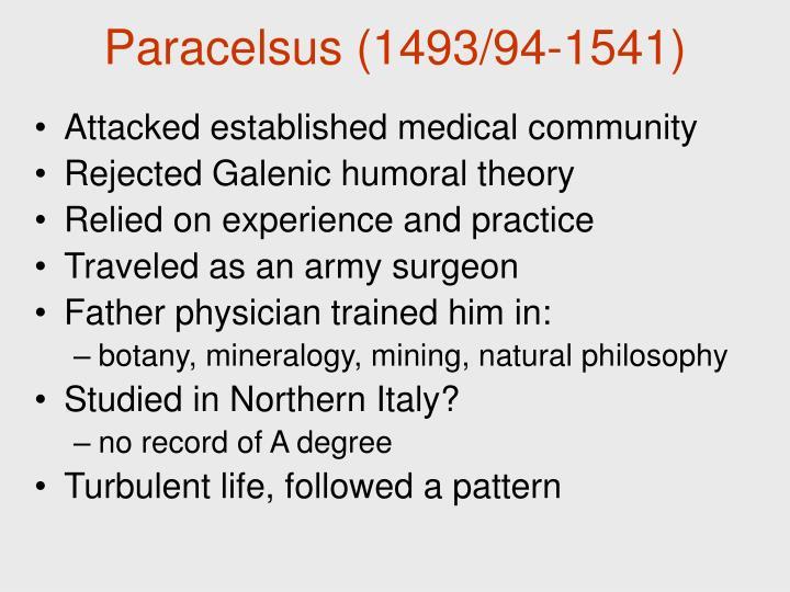 Paracelsus (1493/94-1541)