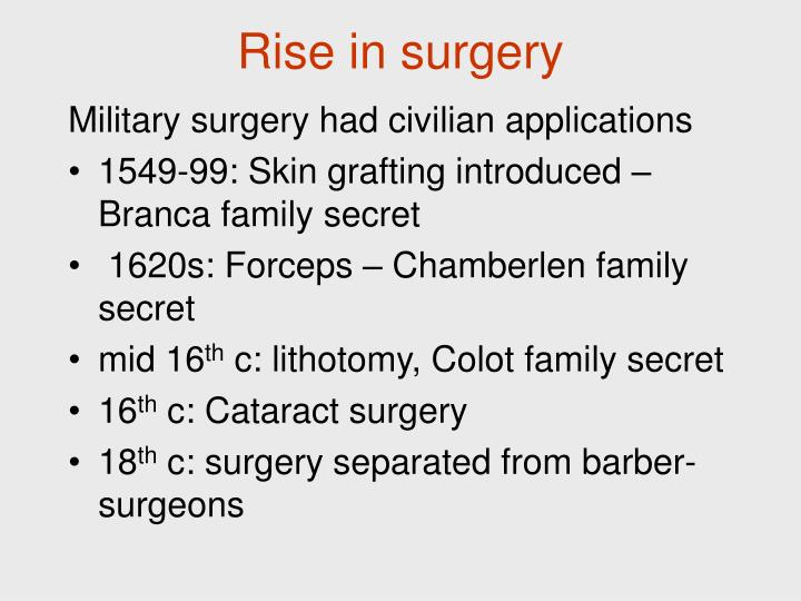 Rise in surgery