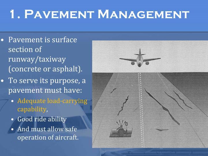 1. Pavement Management