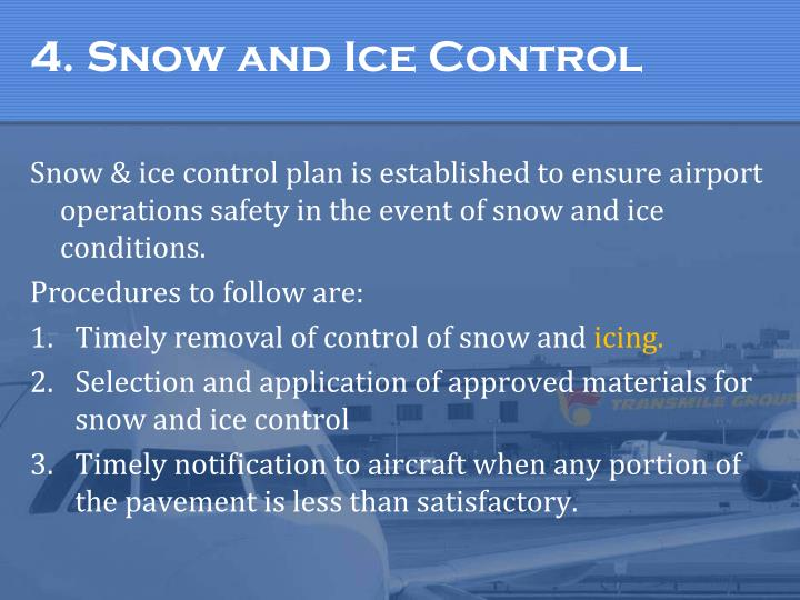 4. Snow and Ice Control
