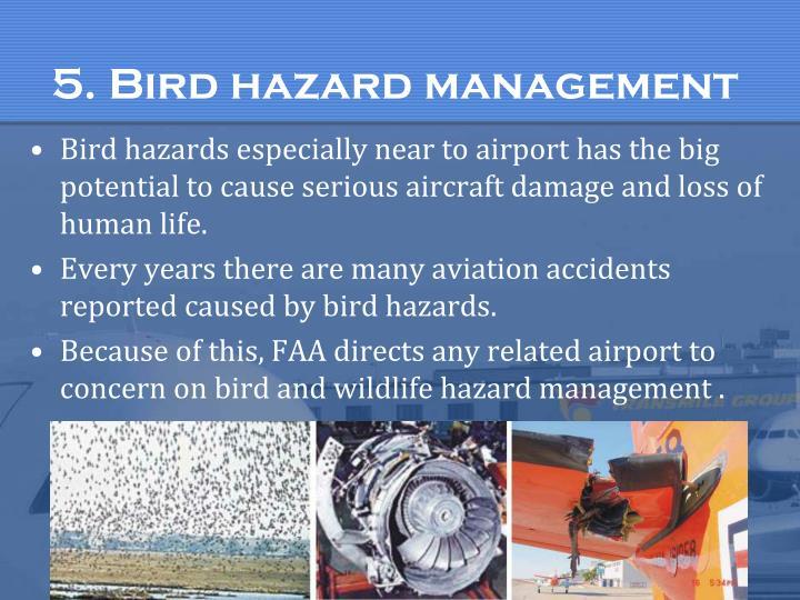 5. Bird hazard management