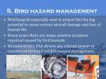 5 bird hazard management