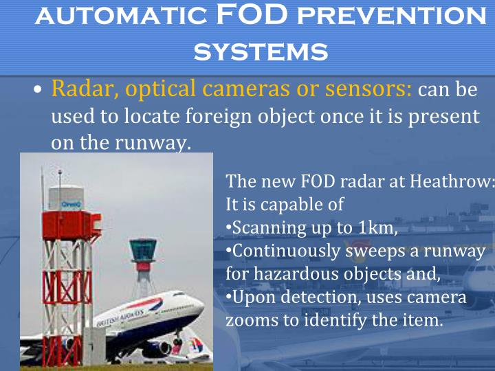 automatic FOD prevention systems