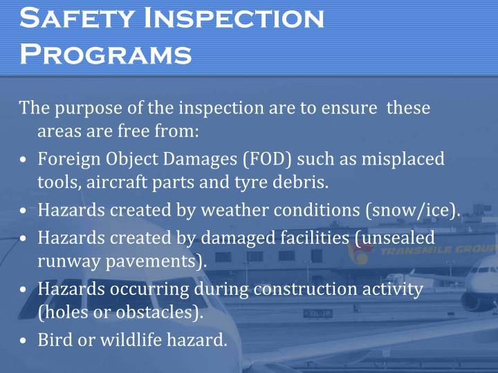 Safety Inspection Programs