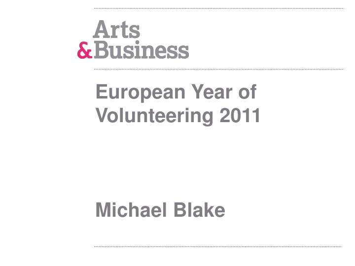 European Year of Volunteering 2011