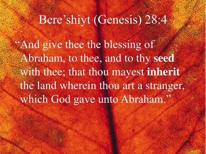 Bere'shiyt (Genesis) 28:4