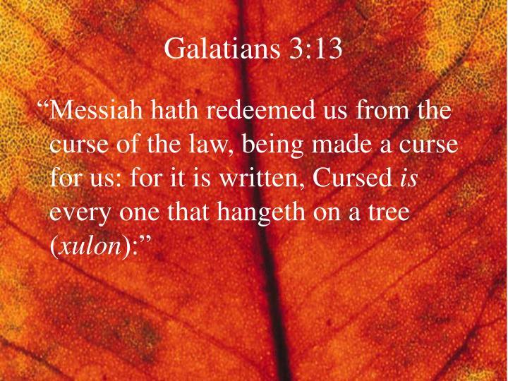 Galatians 3:13